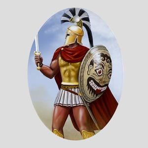 leonidas v1 corintian helmet Oval Ornament