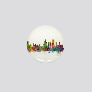 Chicago Illinois Skyline Mini Button