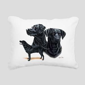 Black Labs Rectangular Canvas Pillow