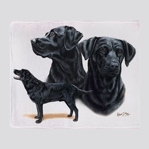 Black Labs Throw Blanket