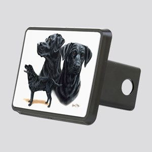 Black Labs Rectangular Hitch Cover