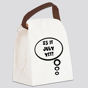 is it july Canvas Lunch Bag