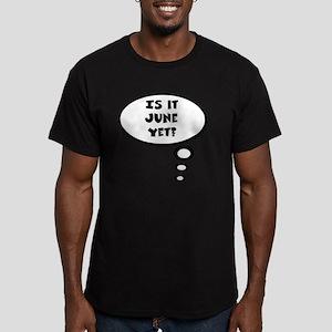 is it june Men's Fitted T-Shirt (dark)