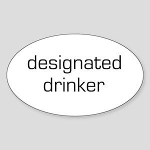 Designated Drinker Oval Sticker
