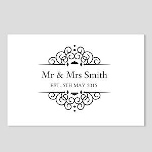 Custom Couples Name and wedding date Postcards (Pa