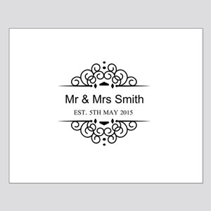 Custom Couples Name and wedding date Poster Design