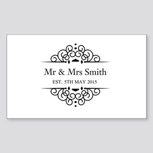 Custom Couples Name and wedding date Sticker