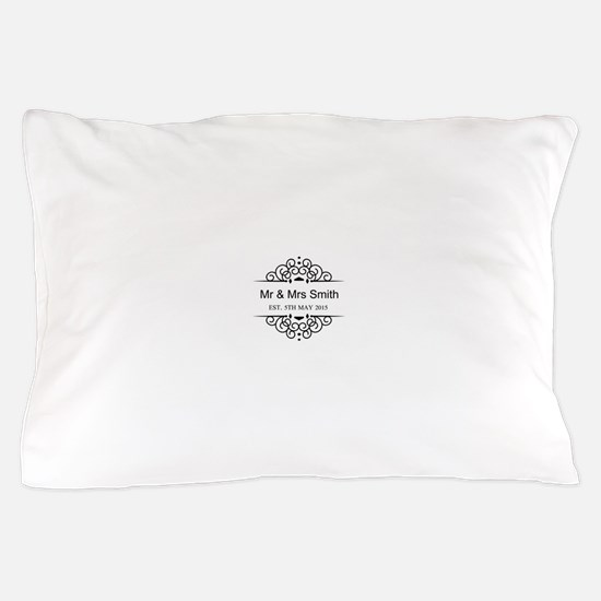 Custom Couples Name and wedding date Pillow Case