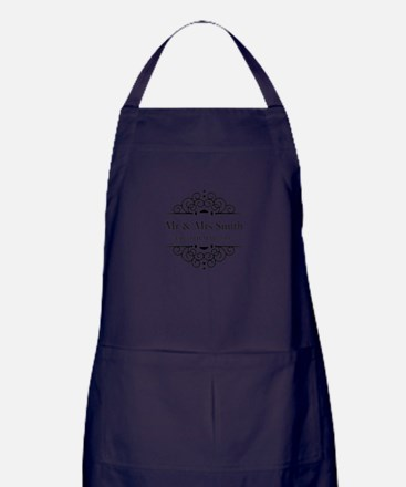 Custom Couples Name and wedding date Apron (dark)