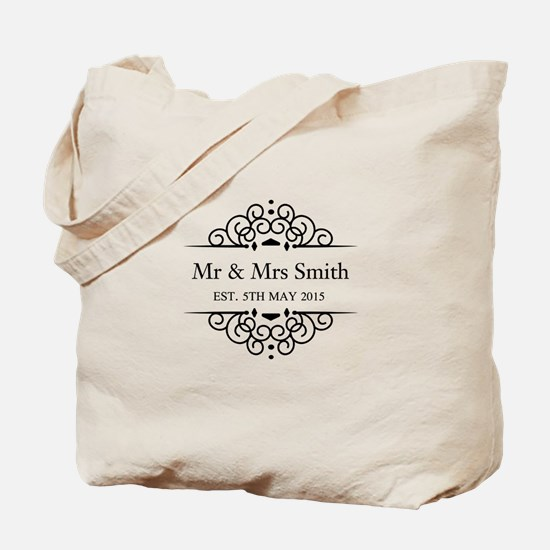 Custom Couples Name and wedding date Tote Bag
