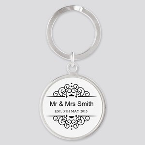 Custom Couples Name and wedding date Keychains