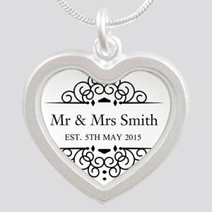 Custom Couples Name and wedding date Necklaces