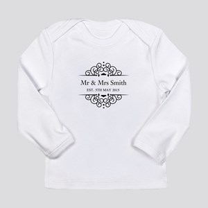 Custom Couples Name and wedding date Long Sleeve T