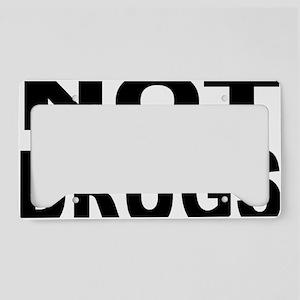 NOT_ON_DRUGS License Plate Holder