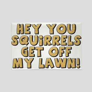FIN-squirrels-lawn-CROP Rectangle Magnet