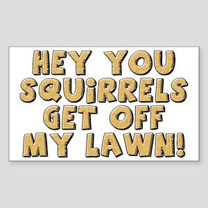 FIN-squirrels-lawn-CROP Sticker (Rectangle)