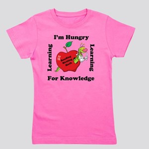 Hungry For Learning copy Girl's Tee