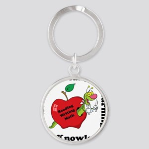 Hungry For Learning copy Round Keychain