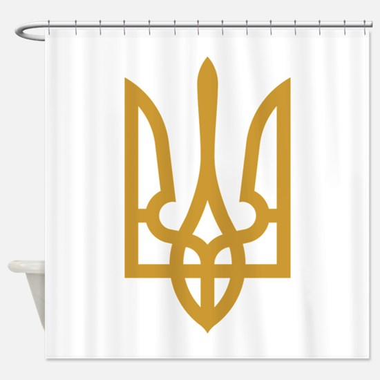 Tryzub (Gold) Shower Curtain