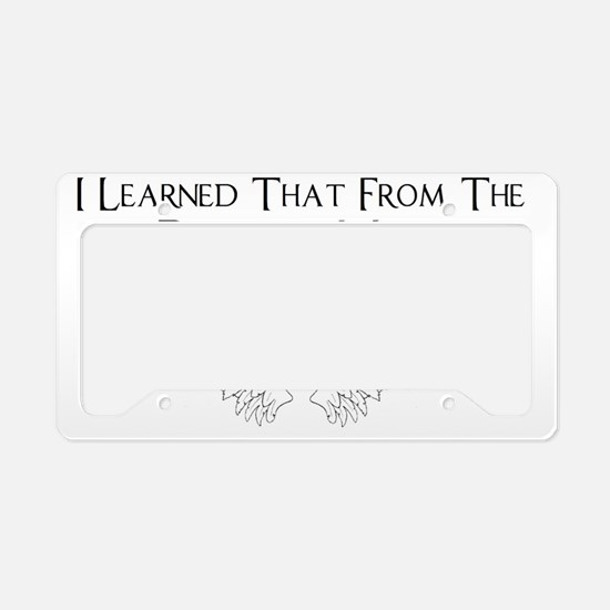 Castiel Pizza Man License Plate Holder