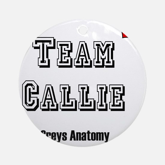 team callie heart Round Ornament