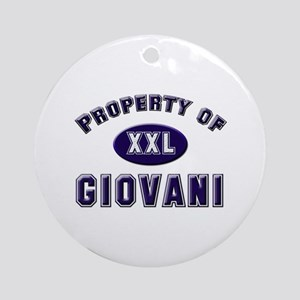 Property of giovani Ornament (Round)