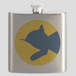 chessieyellowblue Flask