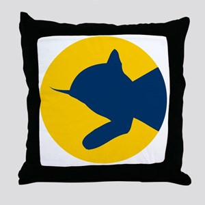 chessieyellowblue Throw Pillow