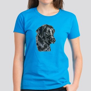 Black Lab Labrador Retriever Women's Dark T-Shirt