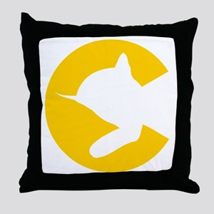 chessieyellow Throw Pillow