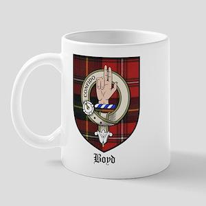 Boyd Clan Crest Tartan Mug