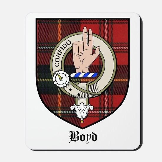 Boyd Clan Crest Tartan Mousepad