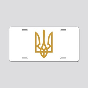 Tryzub (Gold) Aluminum License Plate