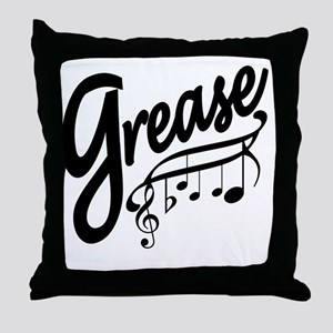grease for white t-shirts Throw Pillow