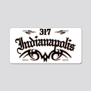 Indianapolis 317 Aluminum License Plate