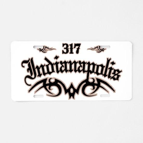 Indianapolis 317 Aluminum License Plate