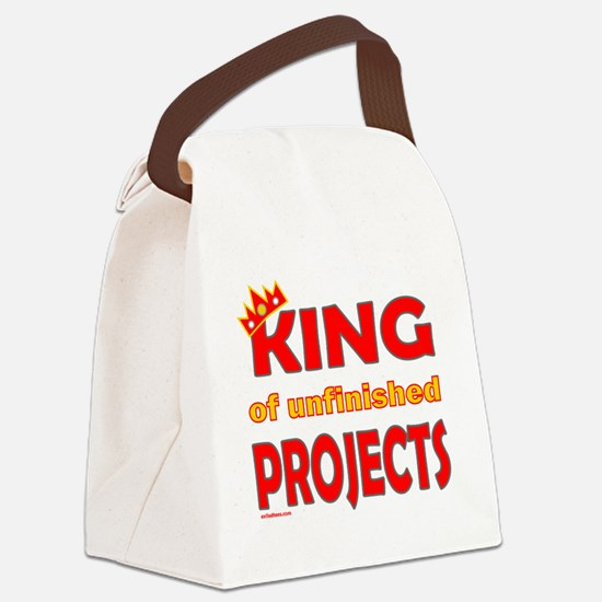 KingOfUnfinishedProjects Canvas Lunch Bag