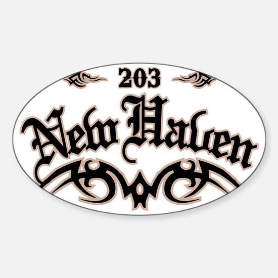 New Haven 203 Sticker (Oval)