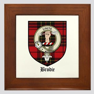 Brodie Clan Crest Tartan Framed Tile
