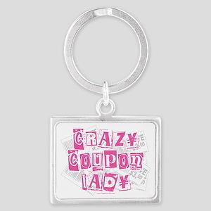 Crazy-Coupon-Lady Landscape Keychain