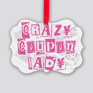 Crazy-Coupon-Lady Picture Ornament
