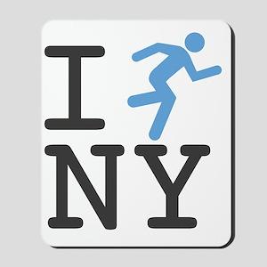 I-Run-NY-B-DrkGrey Mousepad