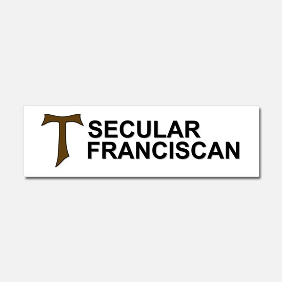 Secular Franciscan Car Magnet 10 x 3