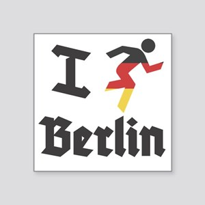 "I-Run-berlin-2 Square Sticker 3"" x 3"""