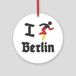 I-Run-berlin-2 Round Ornament