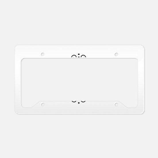 Personalized family name License Plate Holder