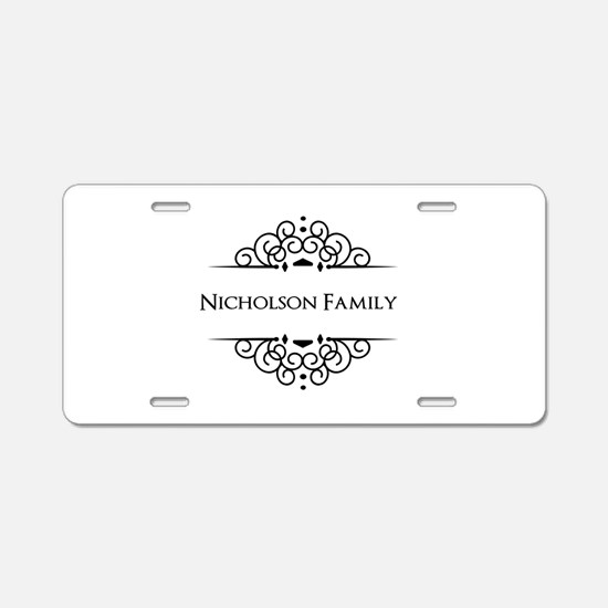 Personalized family name Aluminum License Plate