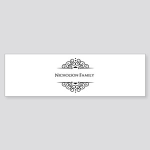 Personalized family name Bumper Sticker