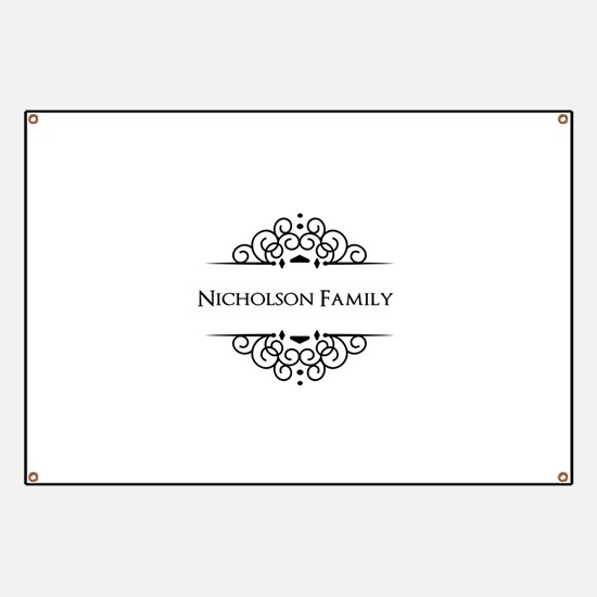 Personalized family name Banner