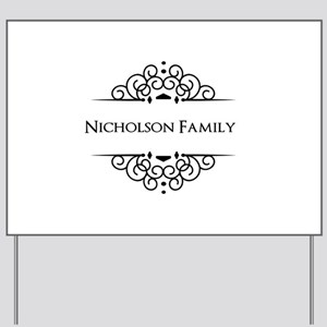 Personalized family name Yard Sign